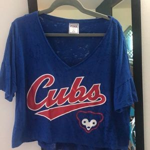 PINK Chicago cubs crop